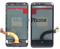 Genuine Nokia Lumia 620 Digitiser Black With Frame - Part No: 00808W4